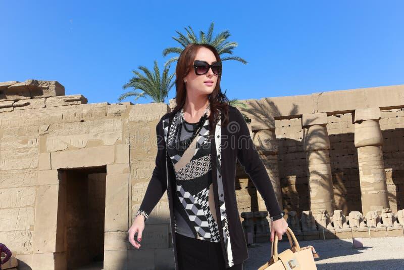 美丽的旅客-埃及 免版税库存图片