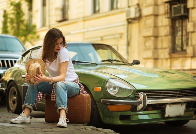 美丽的旅行家 免版税库存图片