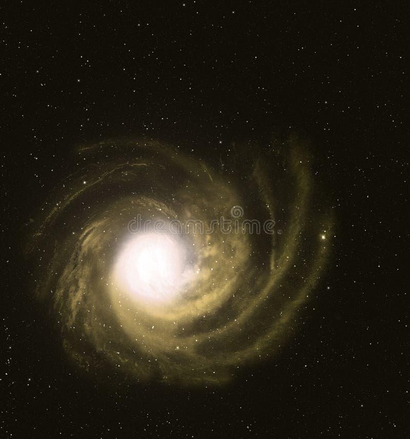 美丽的旋涡星云。 库存图片