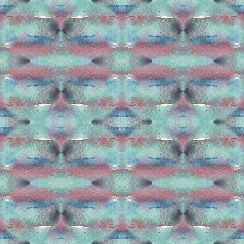 美丽的无缝的水彩五颜六色的抽象样式 皇族释放例证