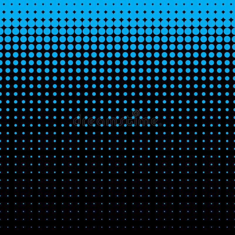 美丽的无缝的水色蓝色光点图形 向量例证