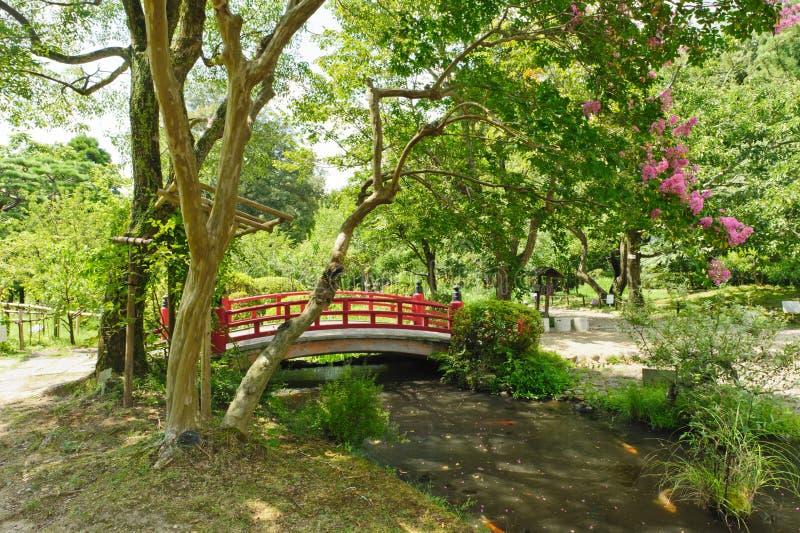 美丽的日本庭院 免版税库存图片