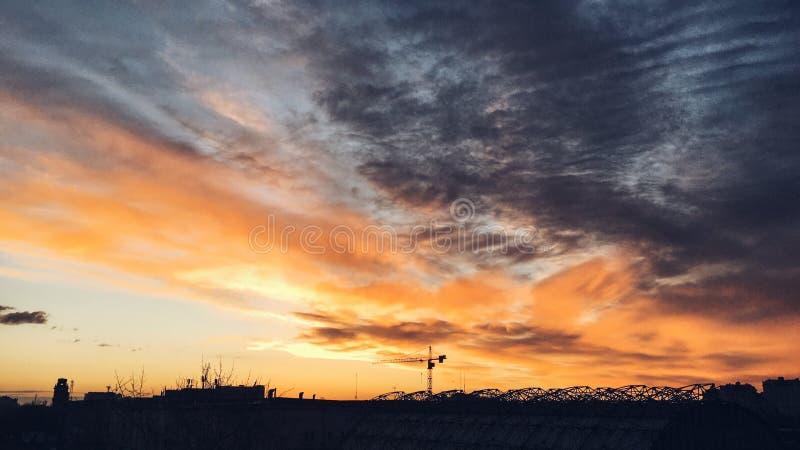 美丽的早晨天空 免版税库存图片