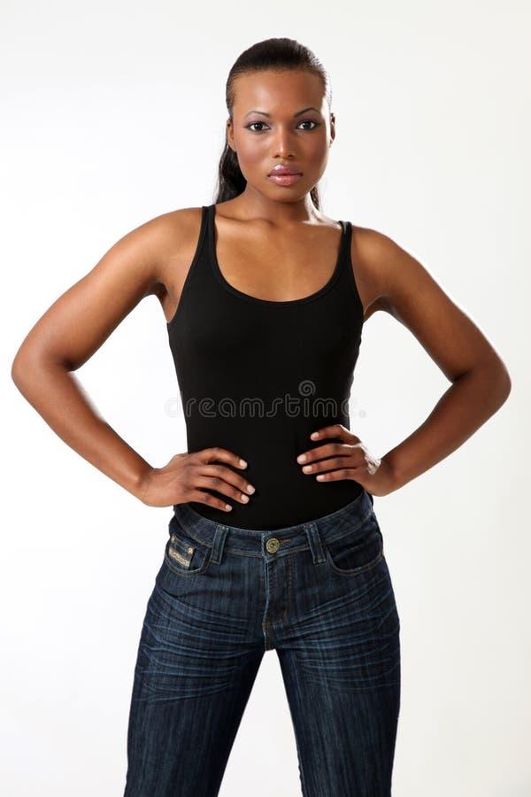 美丽的时装模特儿妇女年轻人 免版税图库摄影