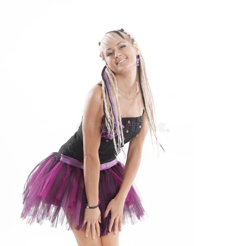 美丽的时髦的女歌手 r 免版税库存照片