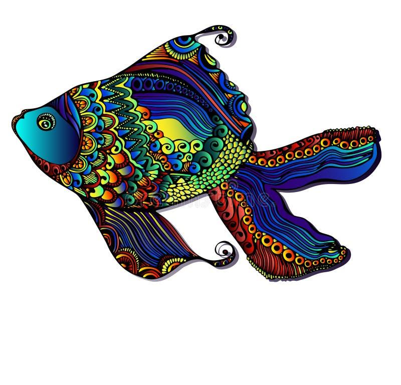 美丽的明亮的鱼 皇族释放例证