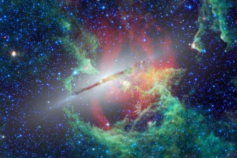 美丽的星云和明亮的星在外层空间,发光的神奇宇宙 库存图片