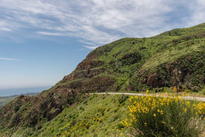 美丽的春天,加利福尼亚州的马里布美景 库存照片