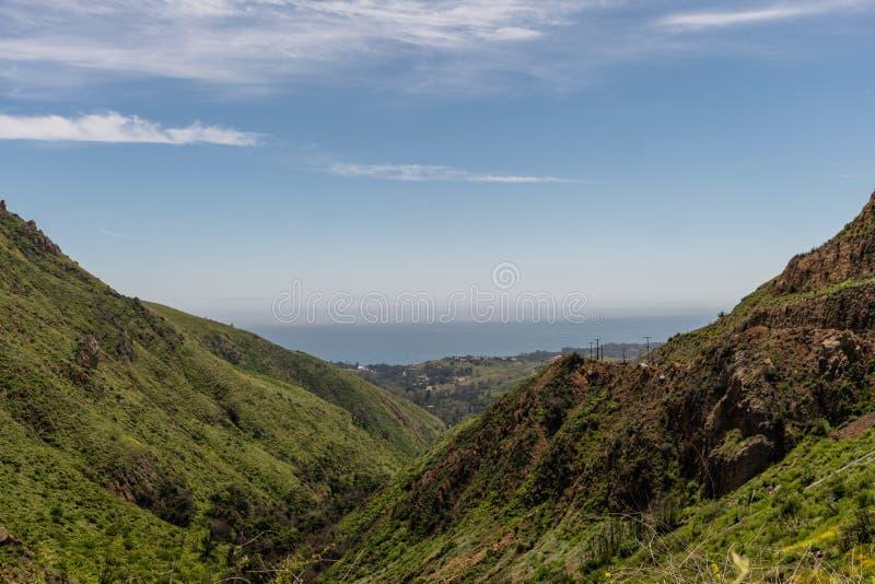 美丽的春天,加利福尼亚州的马里布美景 图库摄影
