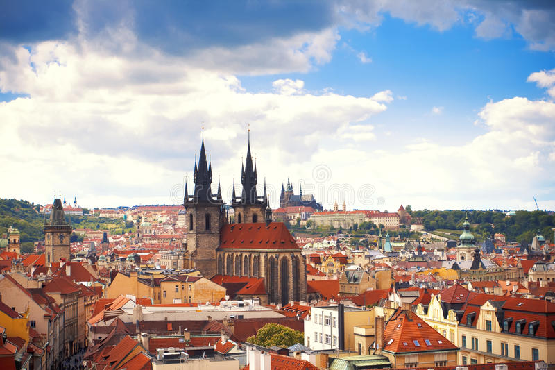美丽的景色向布拉格 免版税图库摄影