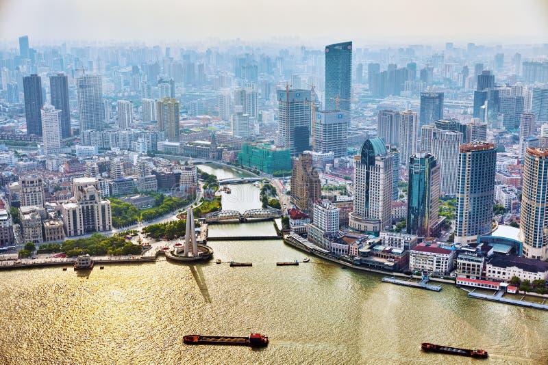 美丽的景色摩天大楼,上海 库存图片