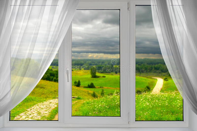 美丽的景色视窗 库存图片