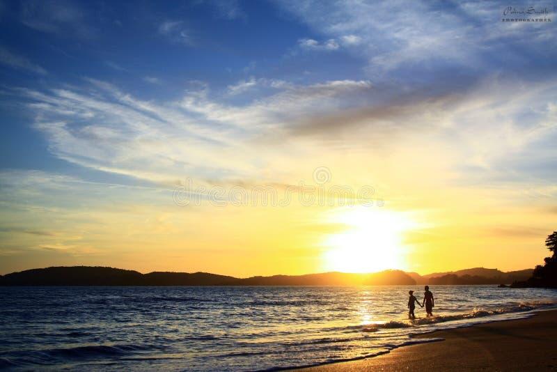 美丽的景色,浪漫史,爱,海洋 免版税图库摄影