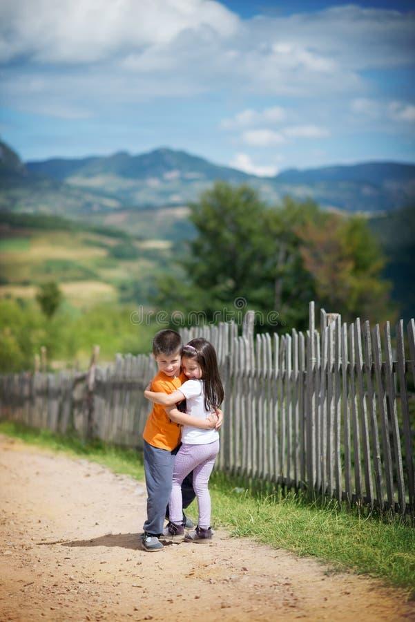 美丽的村庄房子 免版税图库摄影