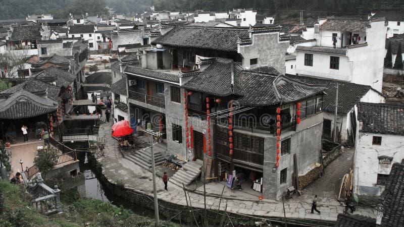 美丽的村庄 库存照片
