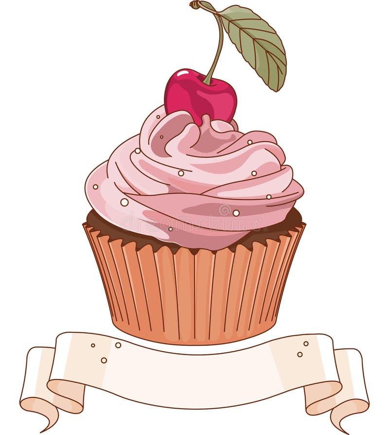 美丽的杯形蛋糕 库存例证