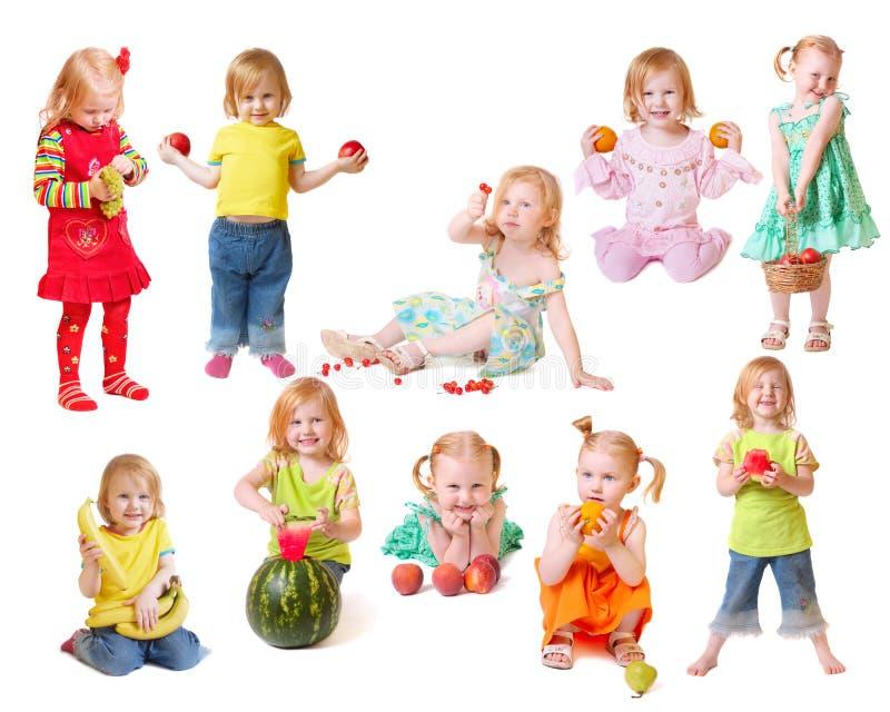 美丽的果子女孩一点 免版税库存图片