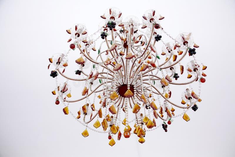 美丽的枝形吊灯 库存照片