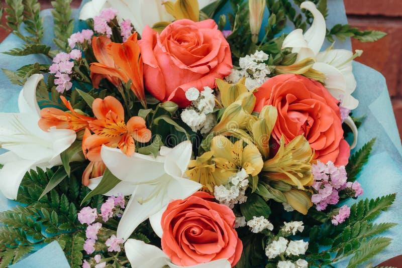 美丽的柔和的欢乐花束 图库摄影