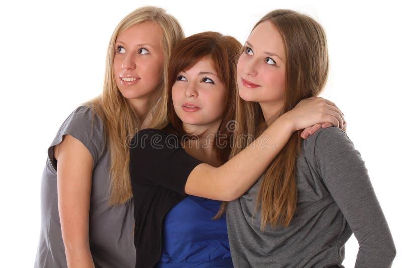 美丽的查找学员惊奇上升是妇女 库存图片