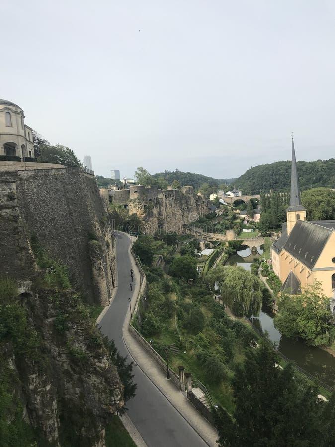 美丽的桥梁城市卢森堡世界 卢森堡 欧洲 库存照片