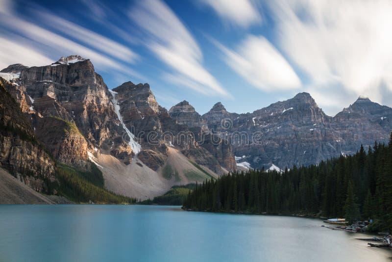 美丽的梦莲湖-长的曝光版本 库存照片
