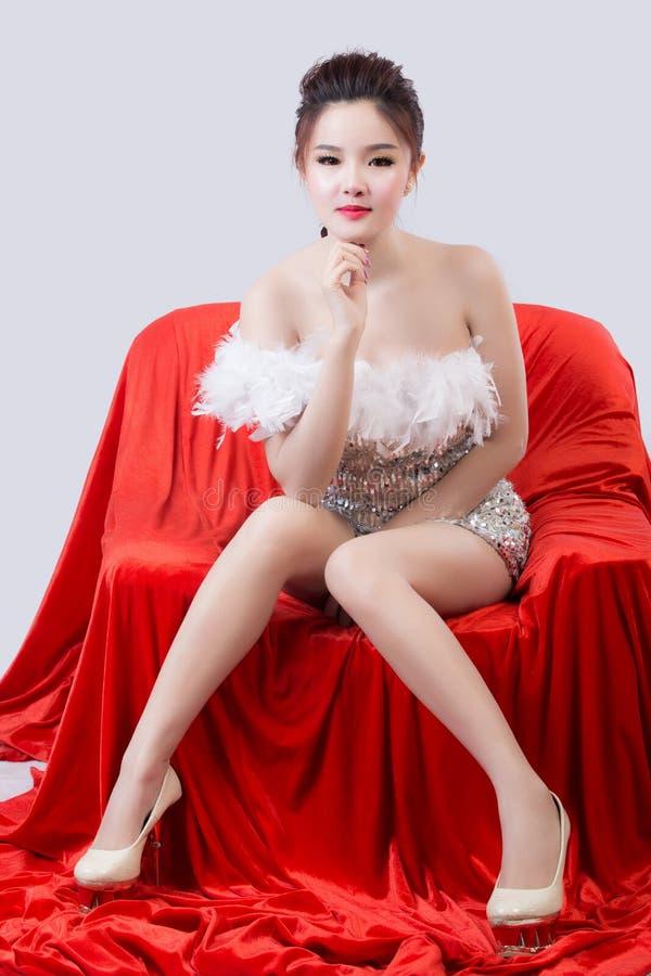 美丽的模型纵向妇女 库存照片