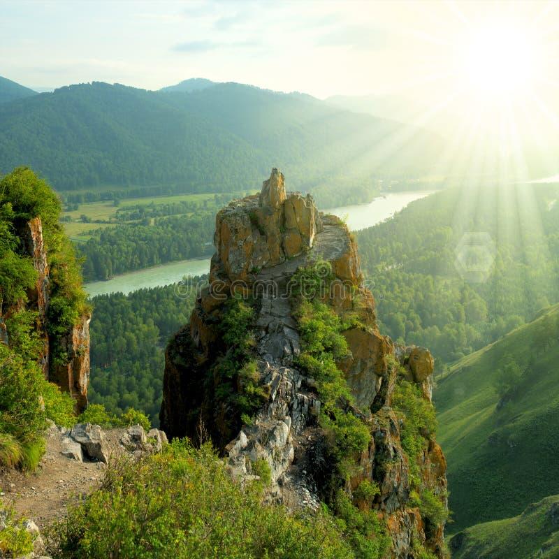 美丽的横向山 图库摄影