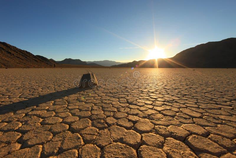 美丽的死亡沙丘形成沙子谷 图库摄影