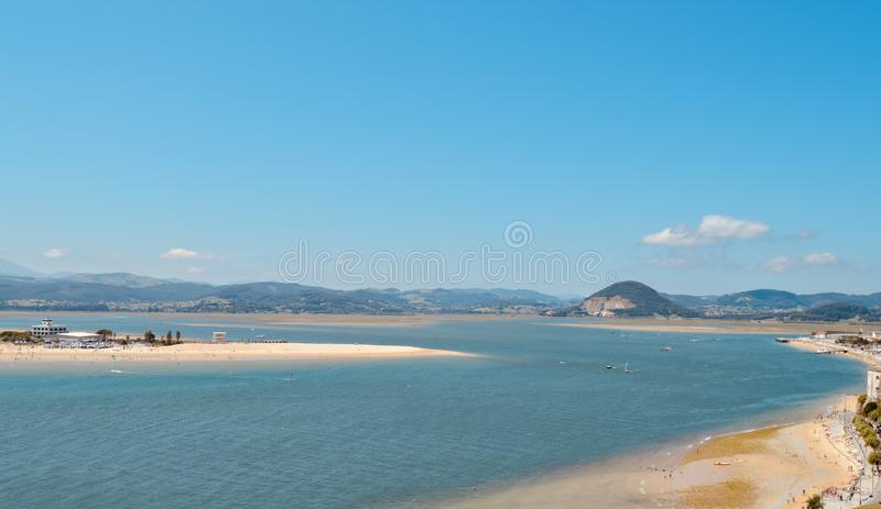 美丽的沙子海岛 免版税库存照片