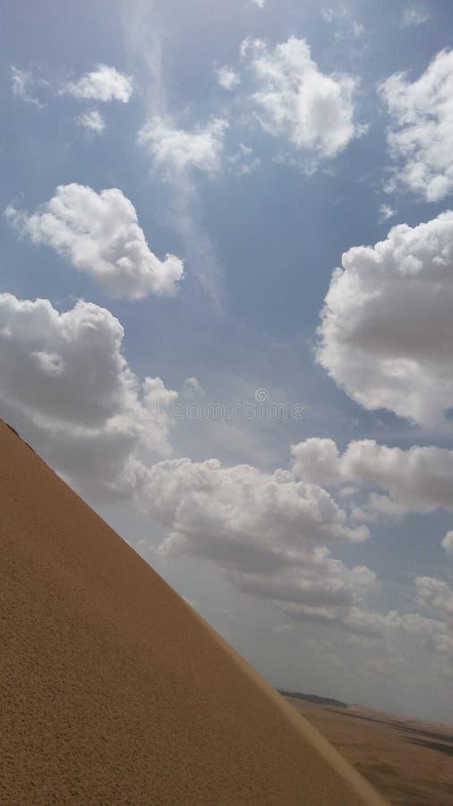 美丽的沙漠天空,伊朗, esfahan 免版税库存照片