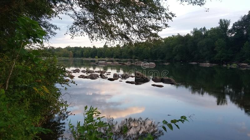 美丽的河 库存图片