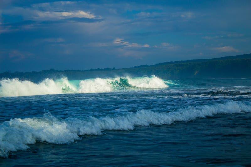 美丽的波浪在早晨 库存图片
