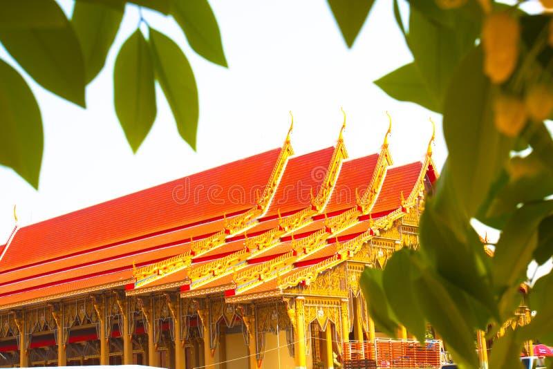 美丽的泰国寺庙历史建筑学大厦 免版税库存图片
