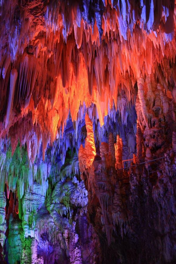 美丽的洞魔术地下 库存照片