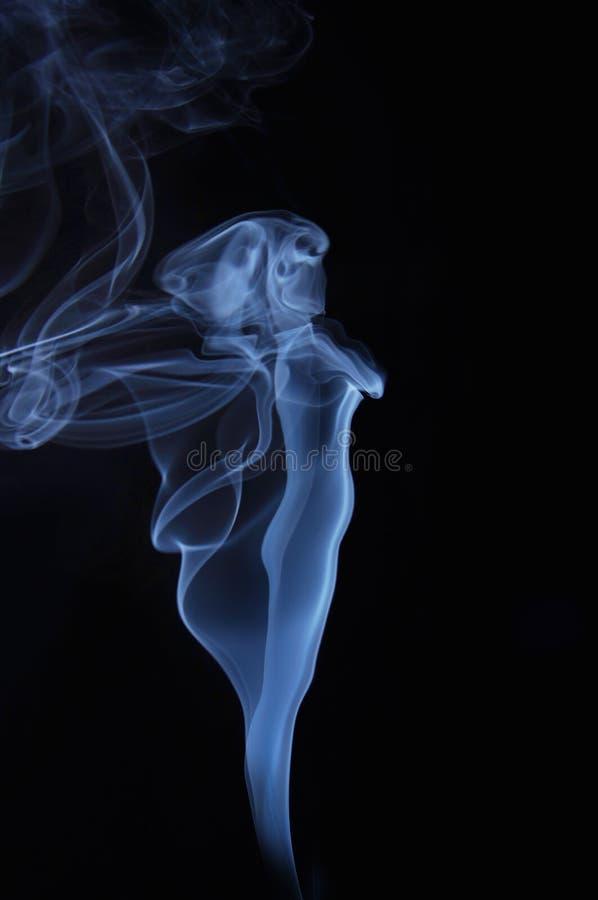 美丽的浪漫夫人的图象由发烟制成 库存图片