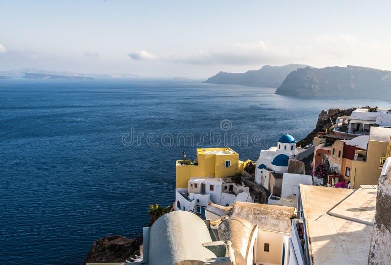 美丽的海岛圣托里尼 免版税库存照片