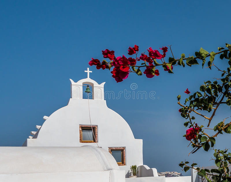 美丽的海岛圣托里尼 图库摄影