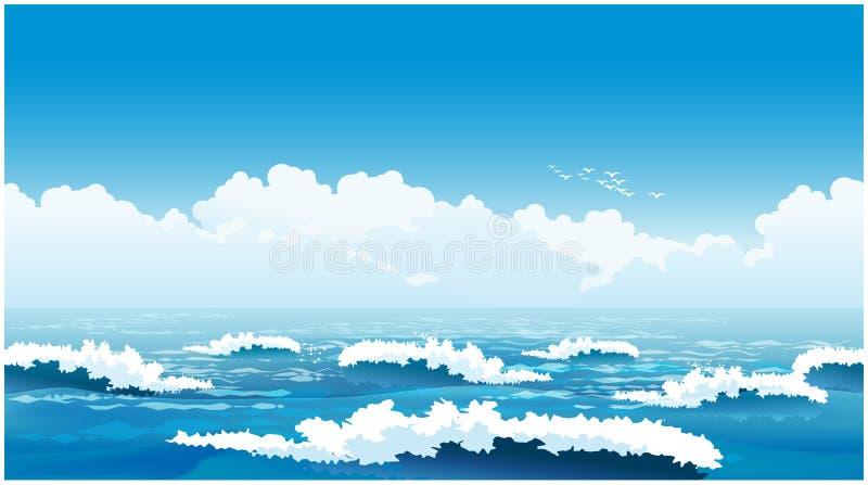 美丽的海浪 库存例证
