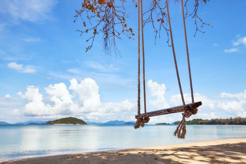 美丽的海滩在泰国,风景 库存图片