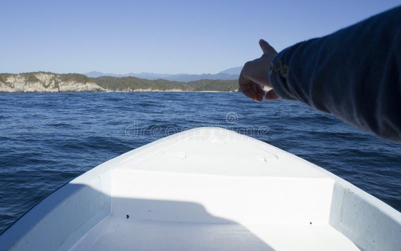 美丽的海滩,punta cometa,huatulco瓦哈卡 免版税库存照片