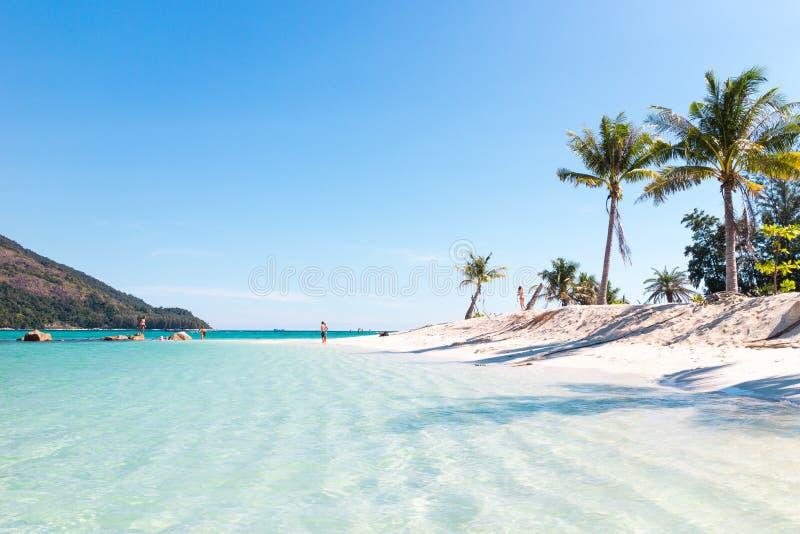 美丽的海滩 Lipe海岛,酸值Lipe,沙敦府泰国 图库摄影