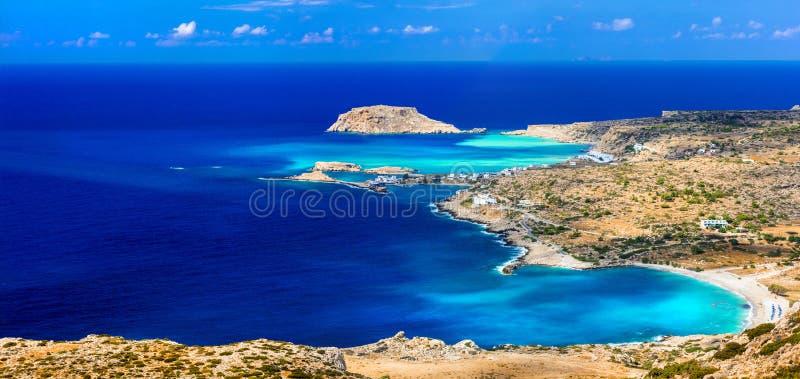 美丽的海滩希腊海岛 免版税库存图片