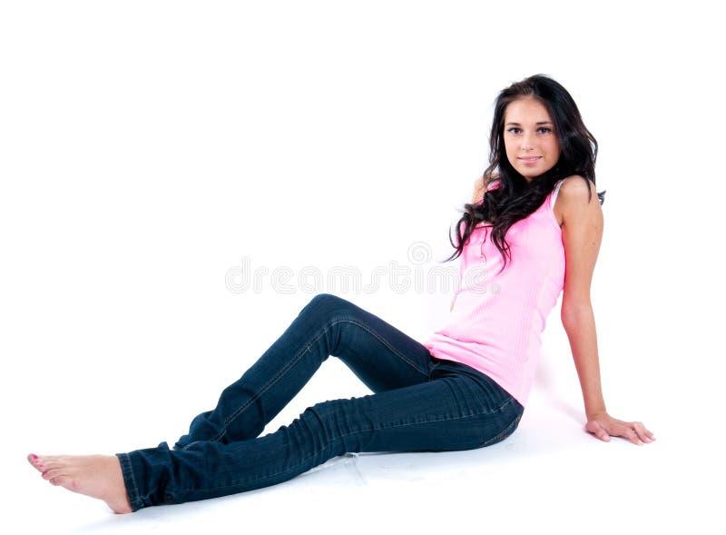 美丽的深色的模型年轻人 图库摄影