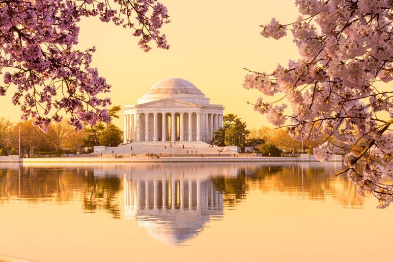 美丽的清早杰斐逊纪念品 库存图片