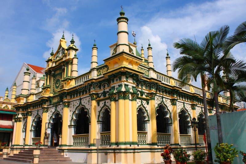 美丽的清真寺新加坡 免版税图库摄影