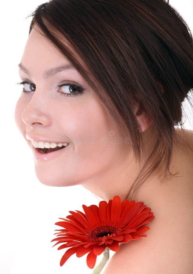 美丽的温泉妇女年轻人 免版税库存图片