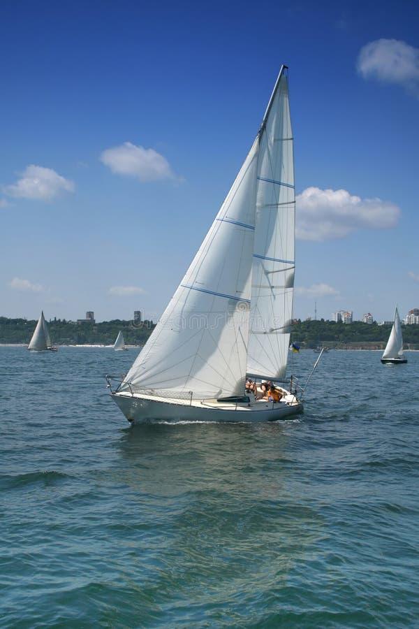 美丽的游艇 免版税库存照片