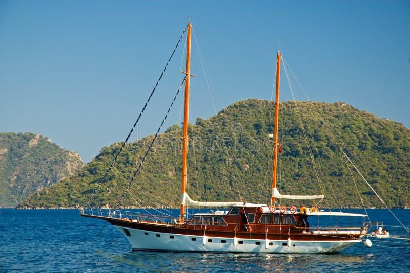 美丽的游艇 免版税图库摄影
