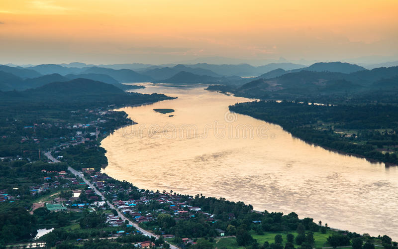 美丽的湄公河 免版税库存照片